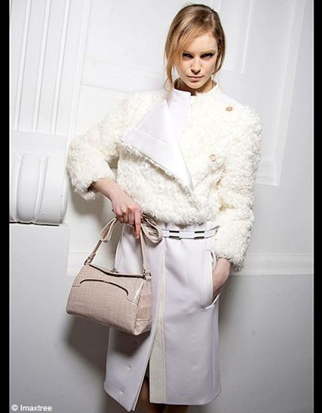 Un manteau bi-matière