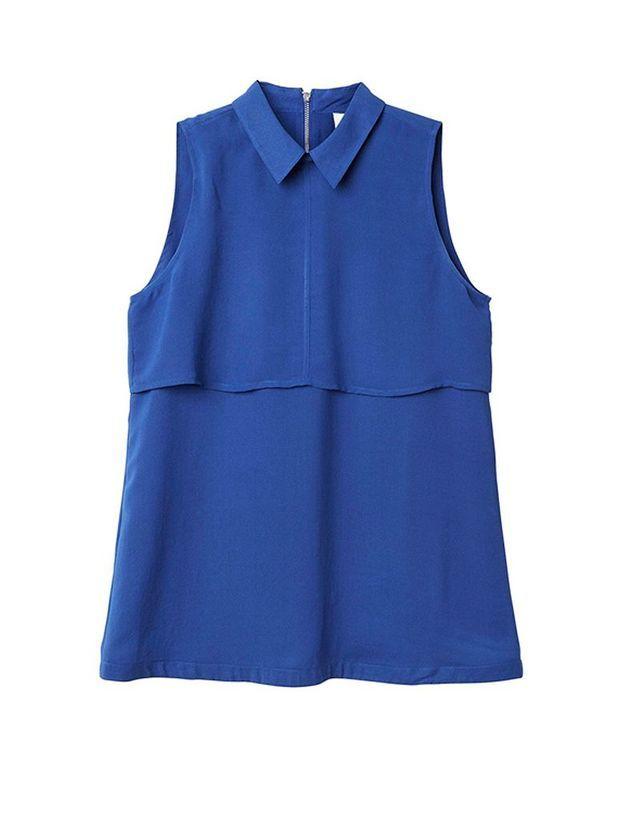 Chemise sans manches bleue Monki