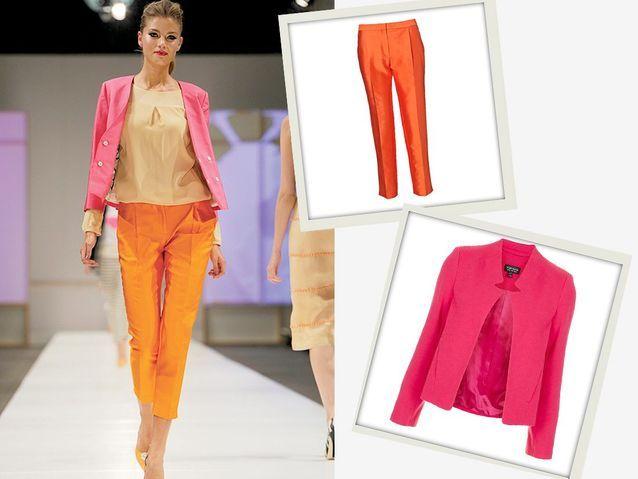 Nouveaux mix de couleurs rose et orange