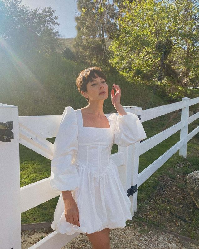 Robe blanche corset