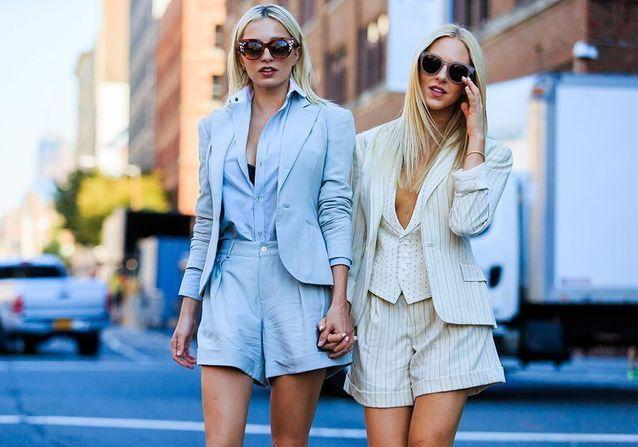 Ces street styles prouvent que le tailleur short se porte en toutes circonstances