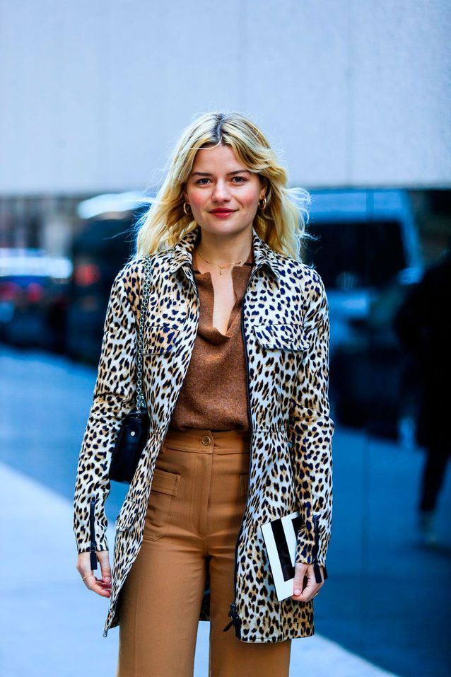 Un manteau léopard