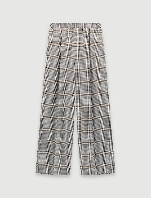 Pantalon à carreaux Maje