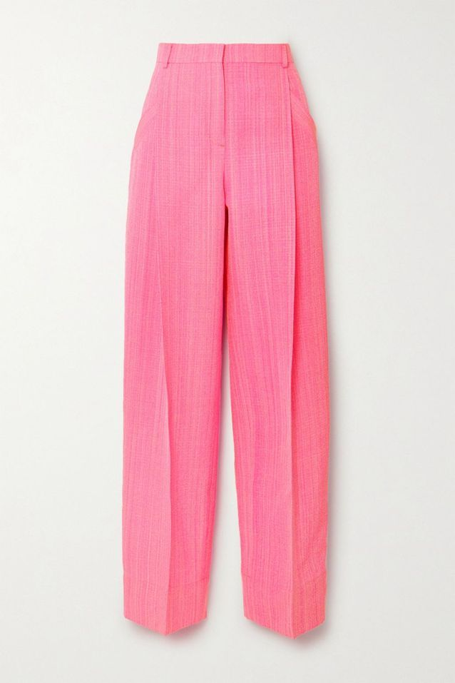 Pantalon rose tissé Jacquemus