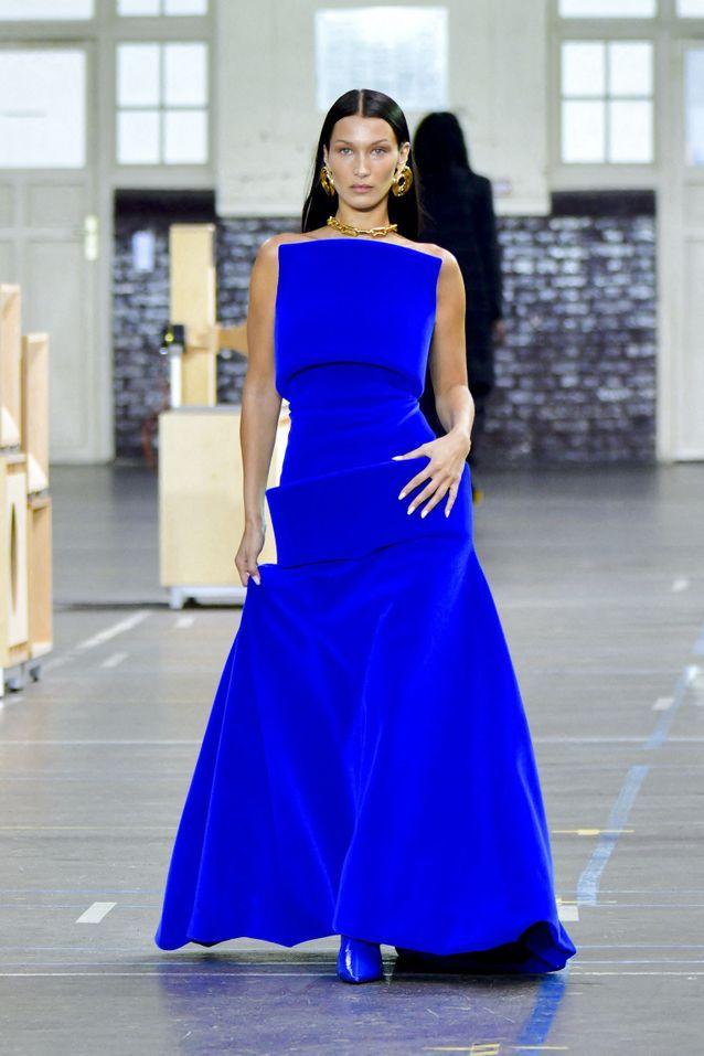 Robe bustier bleue électrique Off-White