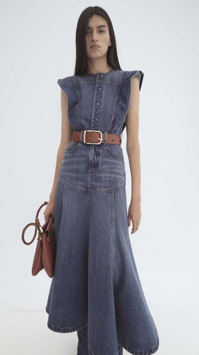 Look Chloé robe en jean