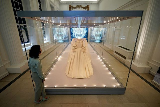 Lady Diana's wedding dress featured in the Royal Style In The Making exhibition