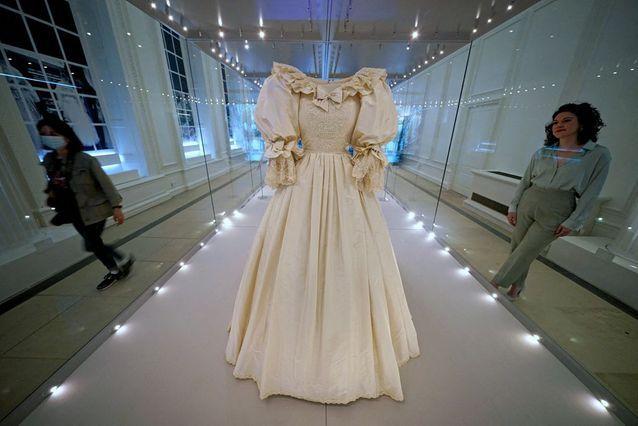 The bodice of Lady Diana's dress