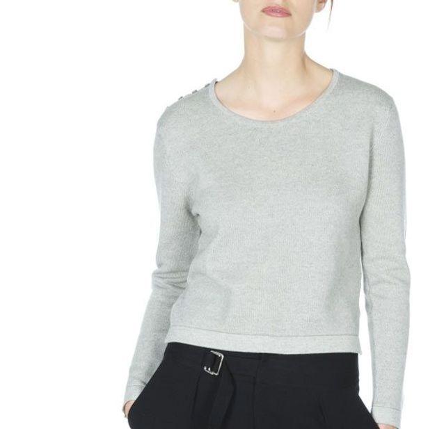 Sweat boutonné épaule Gennifer en coton cachemire, Montagut, 119€