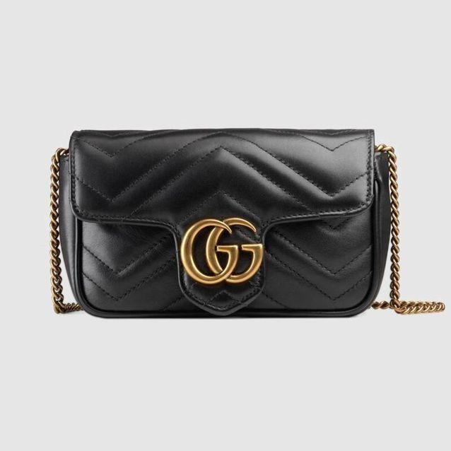Le Gucci Marmont en cuir noir