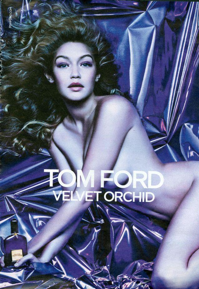 Gigi Hadid pour la publicité Velvet Orchid de Tom Ford
