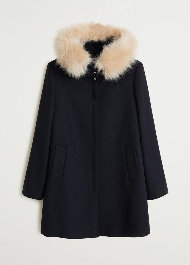 Manteau noir Mango