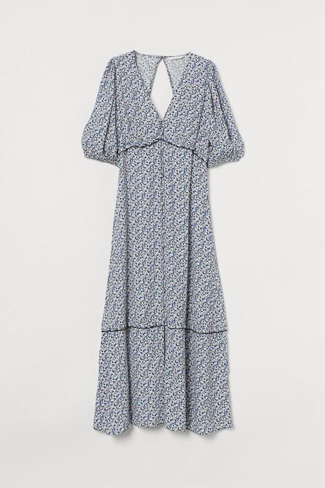 Robe à manches bouffantes en soldes H&M