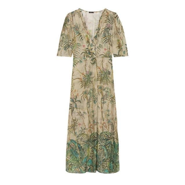 Robe longue imprimé jungle