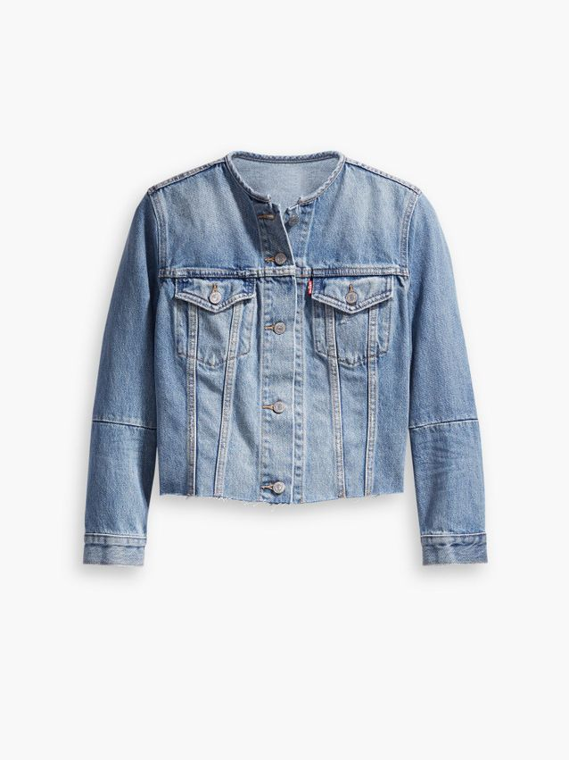 ALTERED COLLARLESS TRUCKER JACKET BETTER TOGETHER