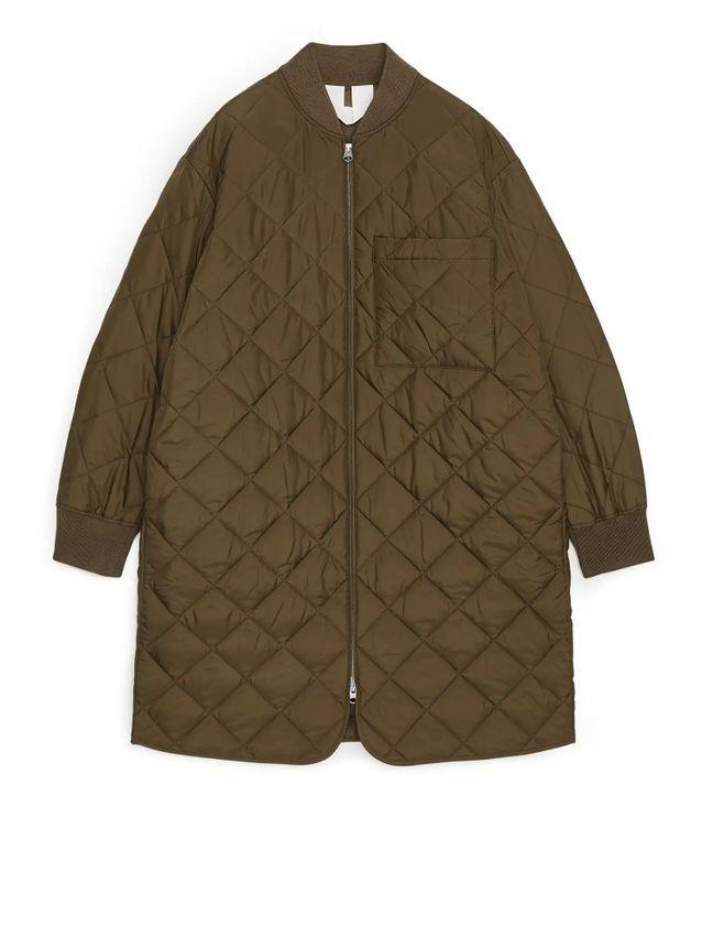 Doudoune longue quilted coat Arket