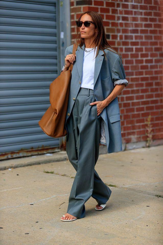 Un blazer XXL avec un sac oversize
