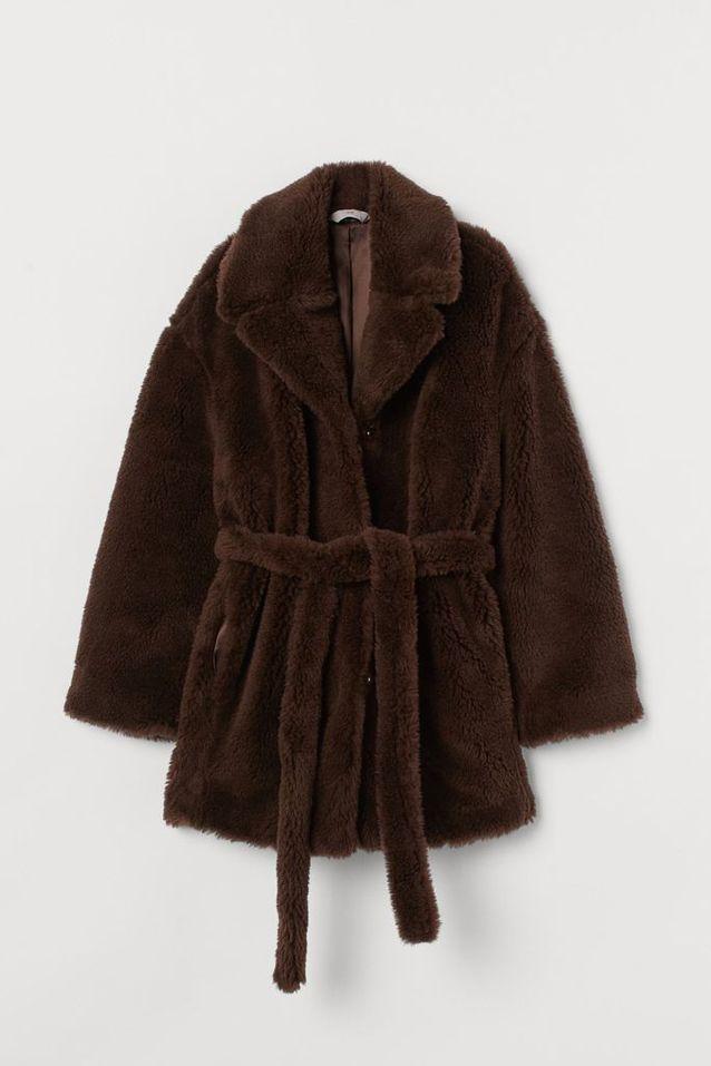 Manteau en fausse fourrure H&M