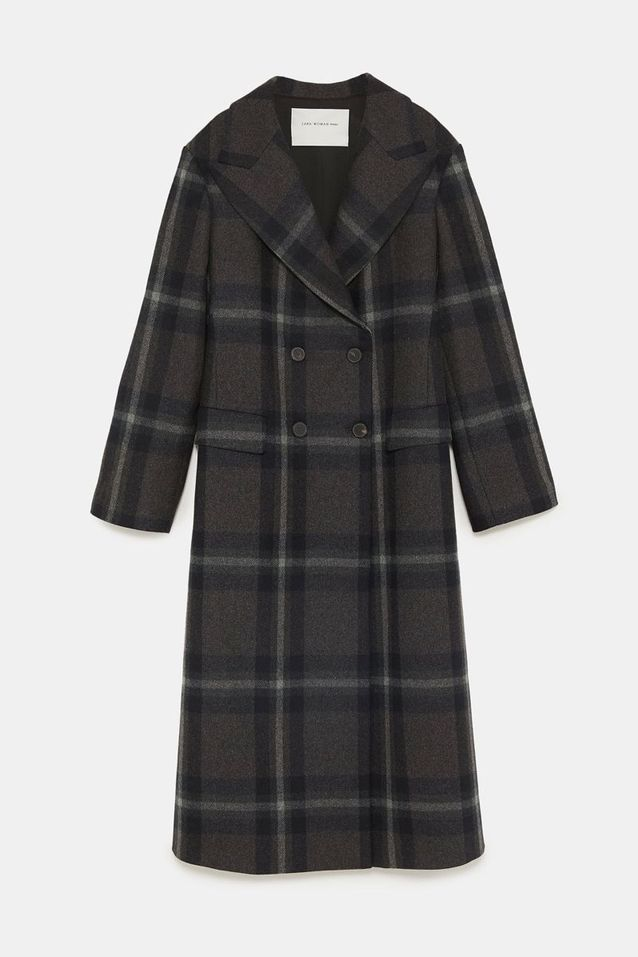 manteau femme zara tartan