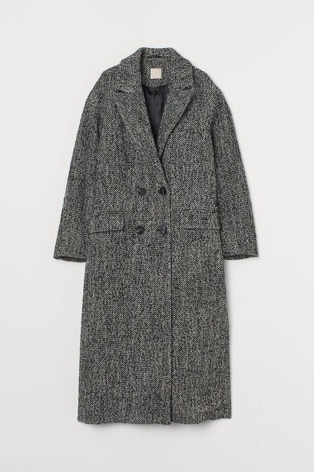 Manteau long en laine mélangée H&M