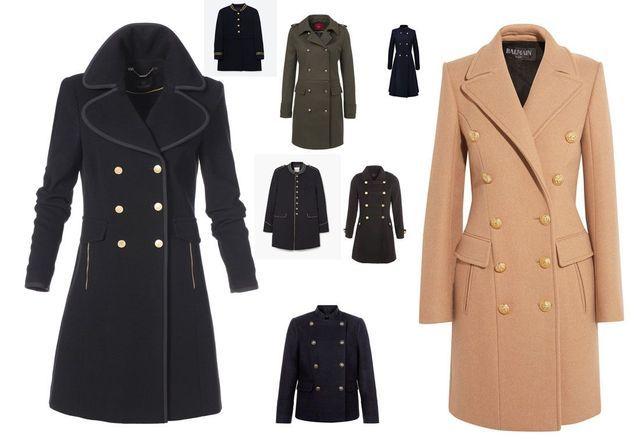 design de qualité 26322 1e04e Manteau officier : 10 manteaux officier pour un hiver 2016 ...