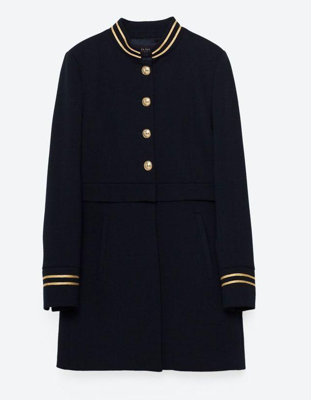 meilleur site web 9ca8f b88c4 Manteau officier Zara - 14 manteaux officier pour un hiver ...