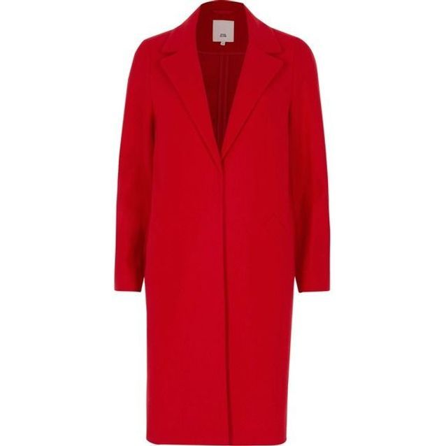 Manteau ajusté rouge River Island