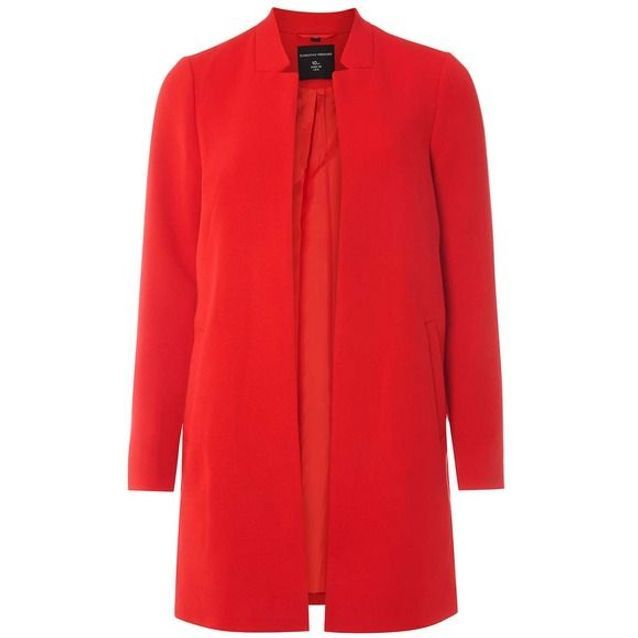 Manteau rouge à col cranté Dorothy Perkins