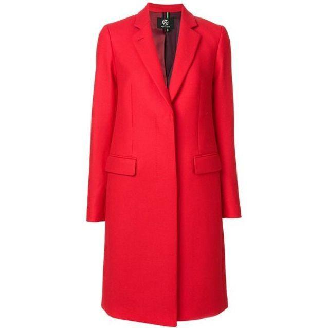 Manteau rouge cintré Paul Smith