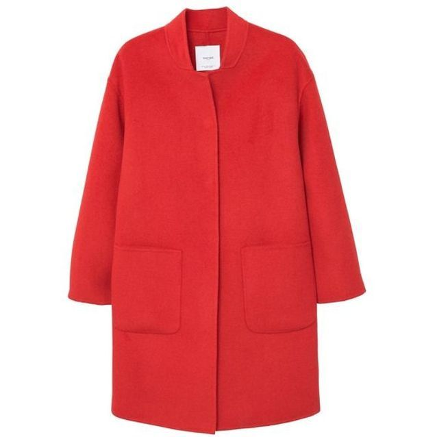 Manteau rouge déstructuré Mango 20 manteaux rouges qui