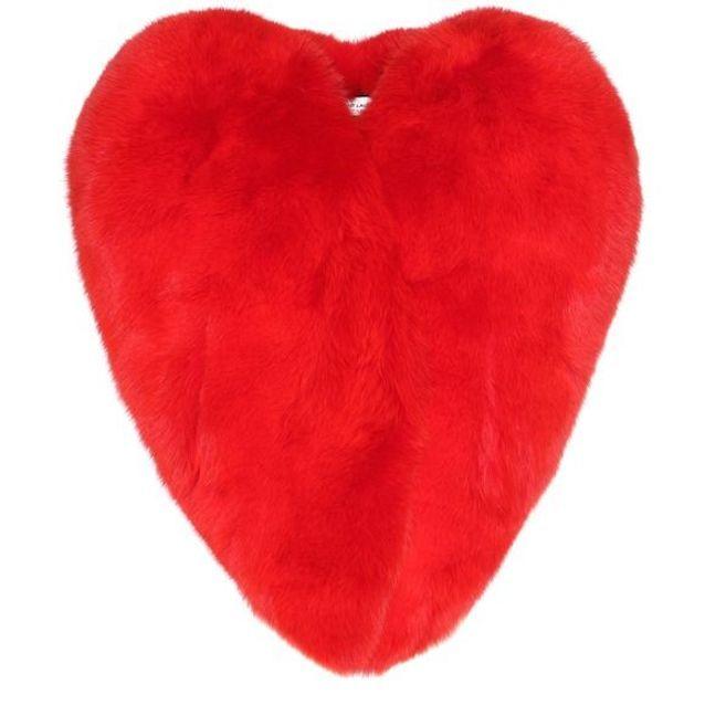 Manteau rouge en forme de cœur Yves Saint Laurent
