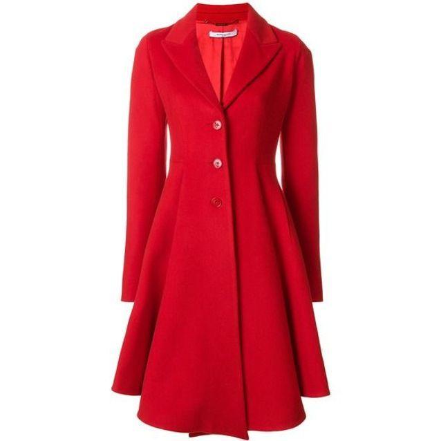 Manteau rouge évasé Givenchy