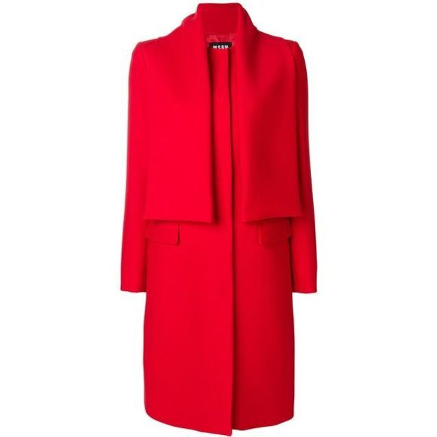 Manteau rouge large MSGM