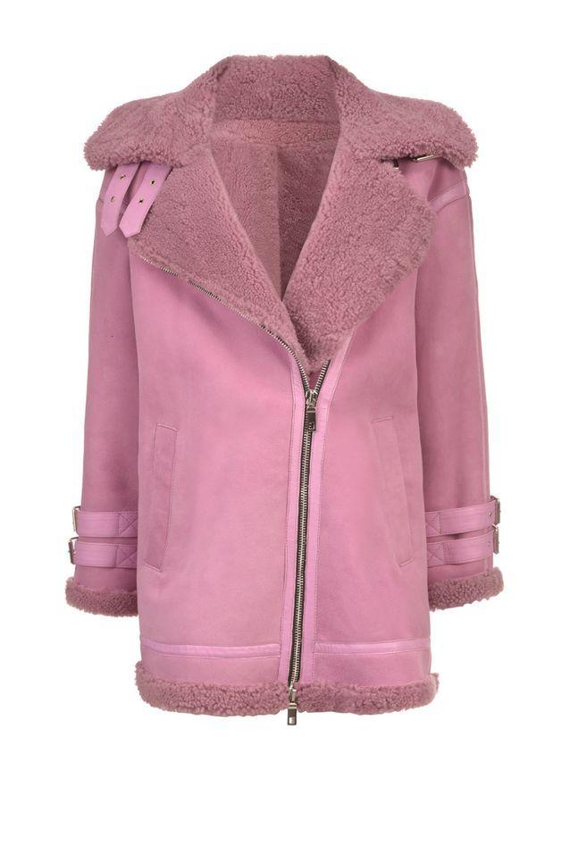 Peau lainée rose vif Pinko
