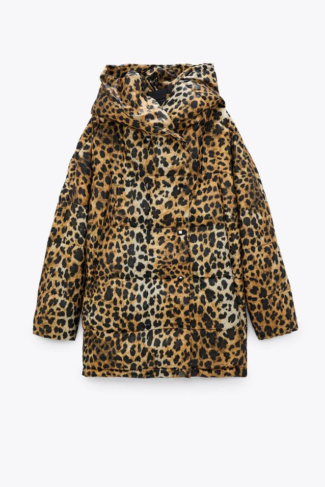 Manteau doudoune léopard soldé Zara