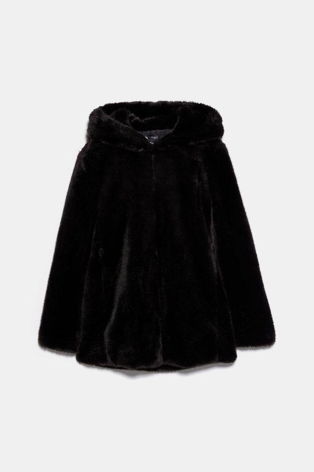 Manteau en fausse fourrure soldé Zara Zara : 15 manteaux