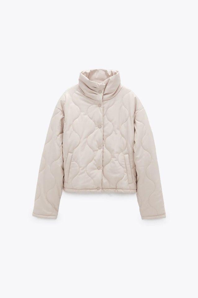Manteau quilted coat soldé Zara