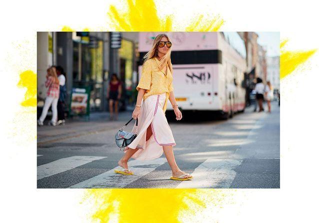 10 street style qui prouvent que les tongs sont la tendance chaussure de l'été