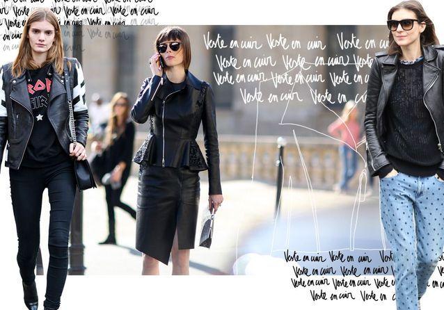 540e6e9a8230f3 Veste en cuir : nos conseils pour porter la veste en cuir femme - Elle