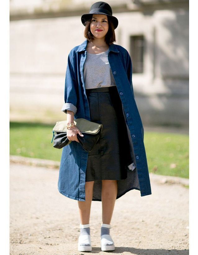 Porter le denim en trench