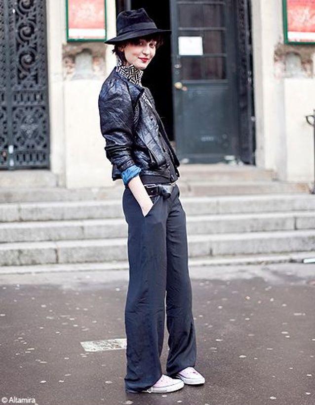 Mode street style look tendance cuir boyish cool