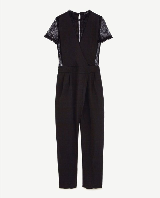 élégant et gracieux caractéristiques exceptionnelles en ligne ici Combinaison pantalon en dentelle noire Zara - Chic et ...