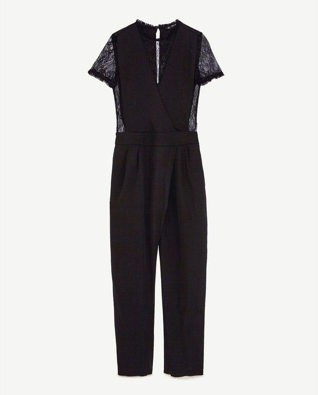 best selling buying cheap buying new Combinaison pantalon en dentelle noire Zara - Chic et ...
