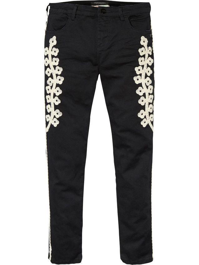 Pantalon brodé Scoth & Soda