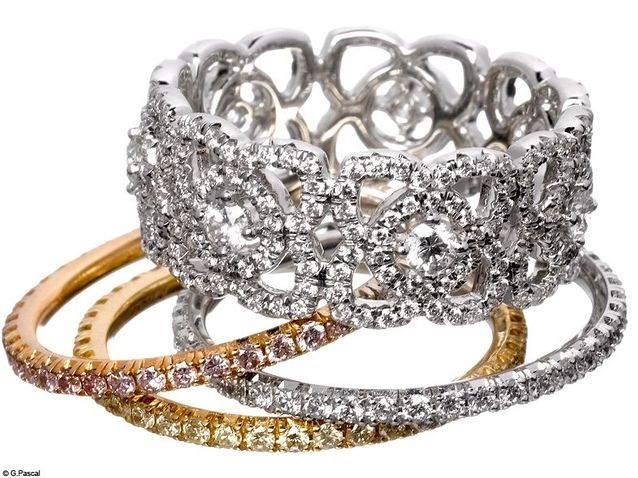 Mode diaporama accessoire bijoux mariage alliance de beers
