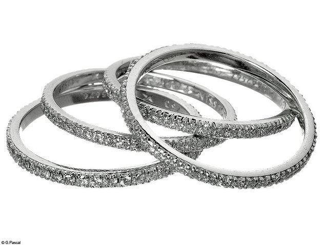 Mode diaporama accessoire bijoux mariage alliance mauboussin