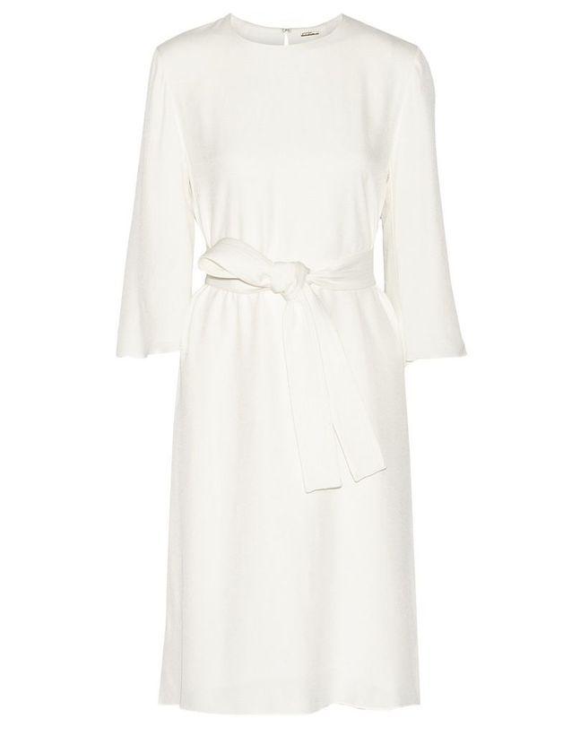 Robe de cocktail blanche Adam Lippes