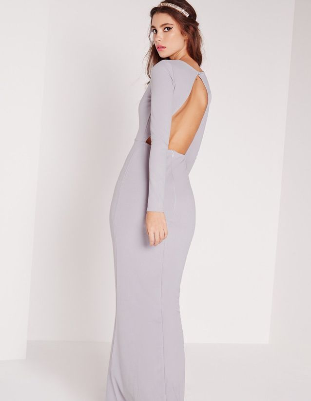 Robe dos nu lilas Missguided