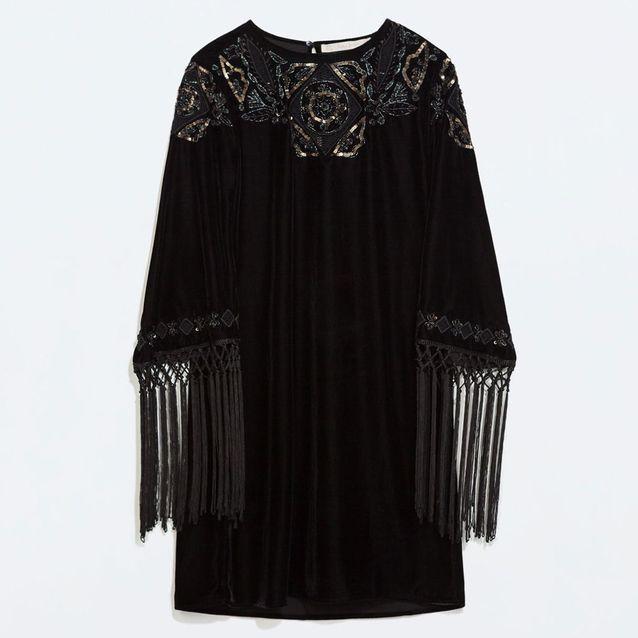Robe en velours Zara