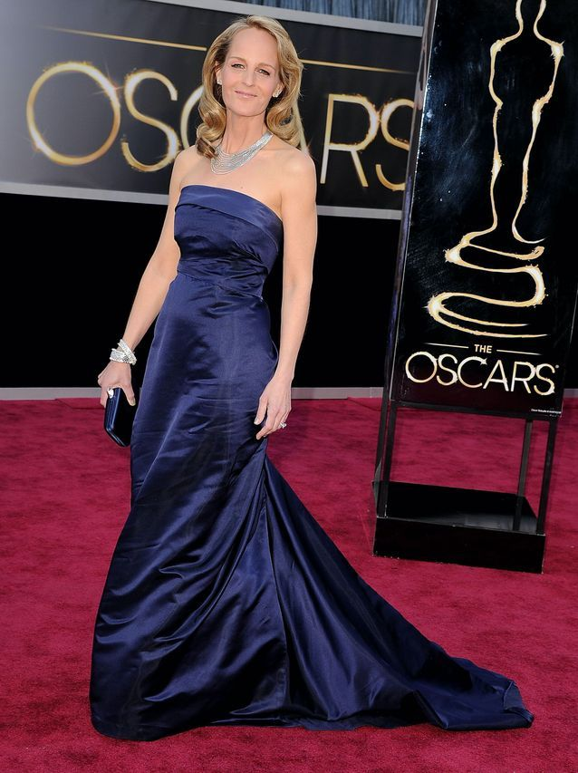 Helen Hunt sur le tapis rouge des Oscars en robe H&m
